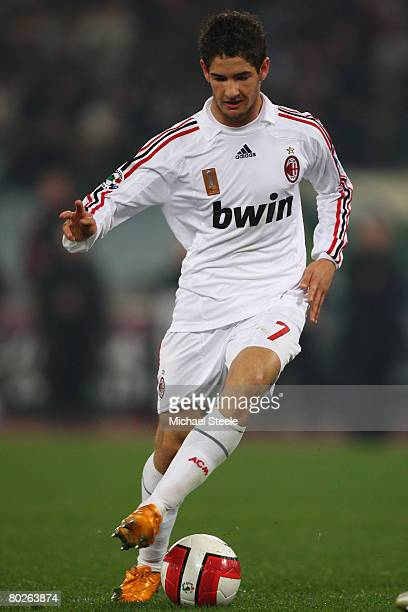 Pato of Milan during the Serie A match between Roma and AC Milan at the Olympic Stadium on March 15 2008 in Rome Italy