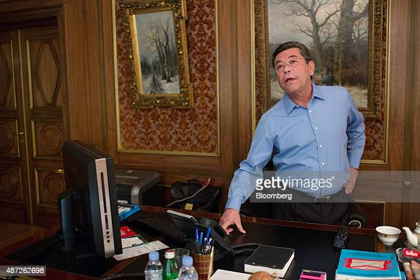 Patokh Chodiev billionaire and cofounder of Eurasian Natural Resources Corp speaks during an interview at his 19th century mansion in Moscow Russia...