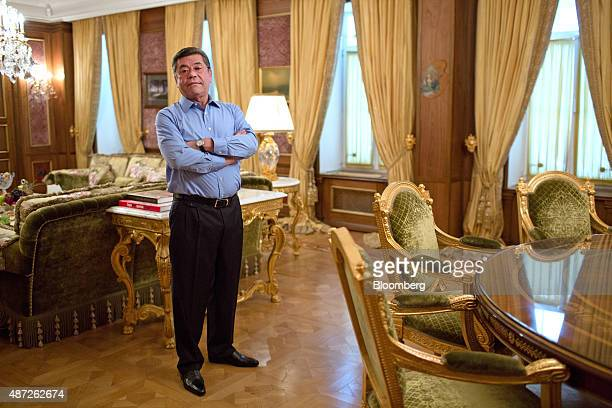 Patokh Chodiev cofounder of Eurasian Natural Resources Corp poses for a photograph at his 19th century mansion in Moscow Russia on Friday March 27...