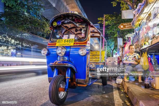 Patpong, a tuk tuk (or auto rickshaw)