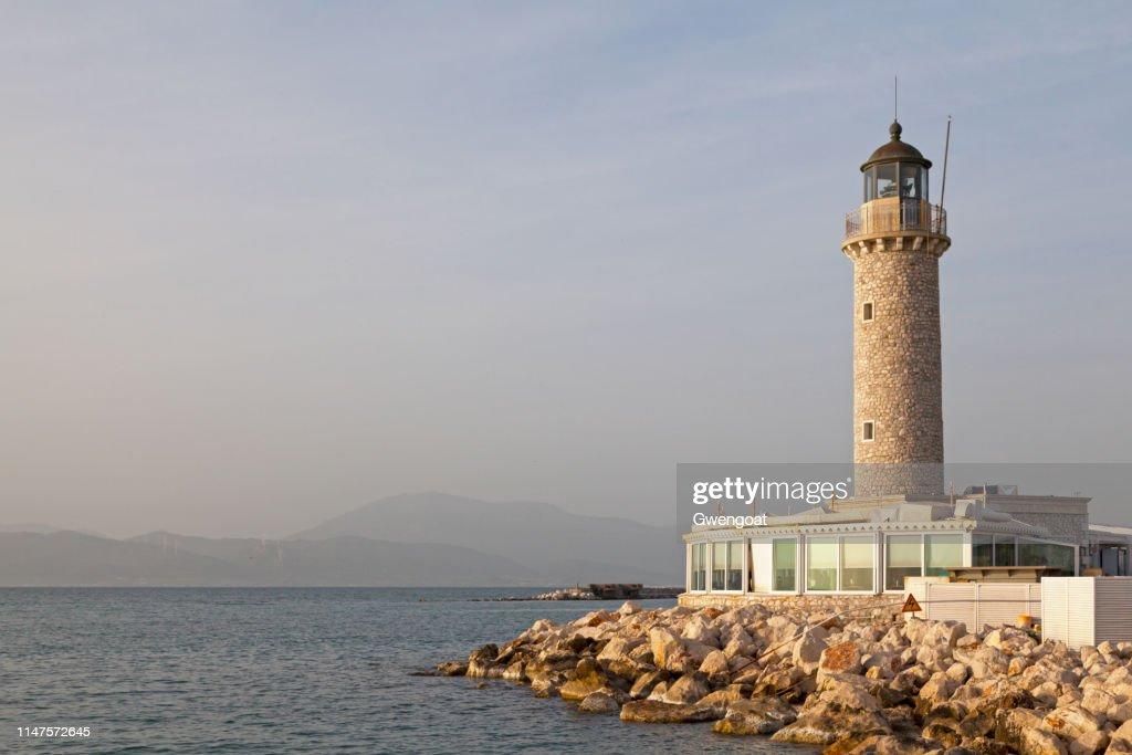 Patras Lighthouse : Stock Photo
