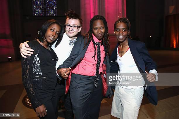 "Patreese Johnson, Blair Dorosh-Walther, Renata Hill and Terrain Dandridge attend Logo's ""Trailblazer Honors"" 2015 at the Cathedral of St. John the..."