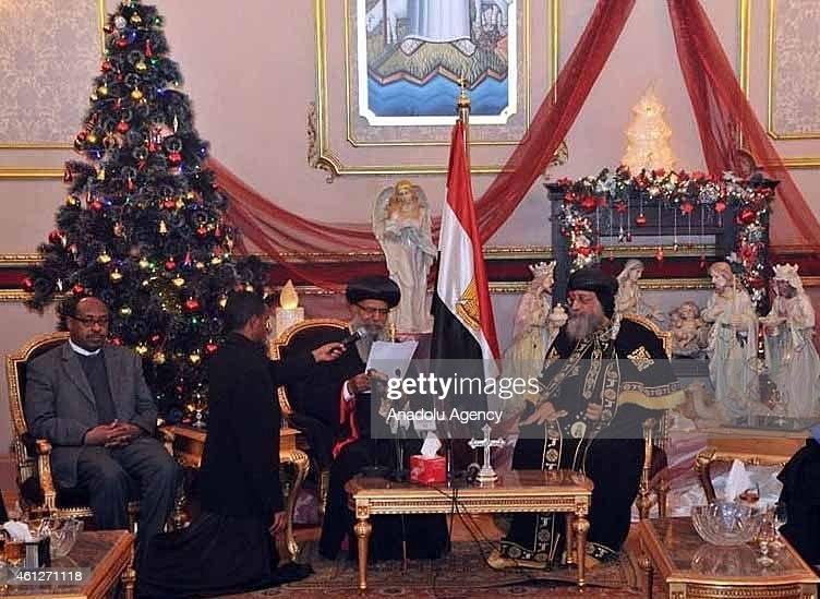 Patriarch of the Ethiopian Orthodox Church Abune Mathias in Egypt : News Photo