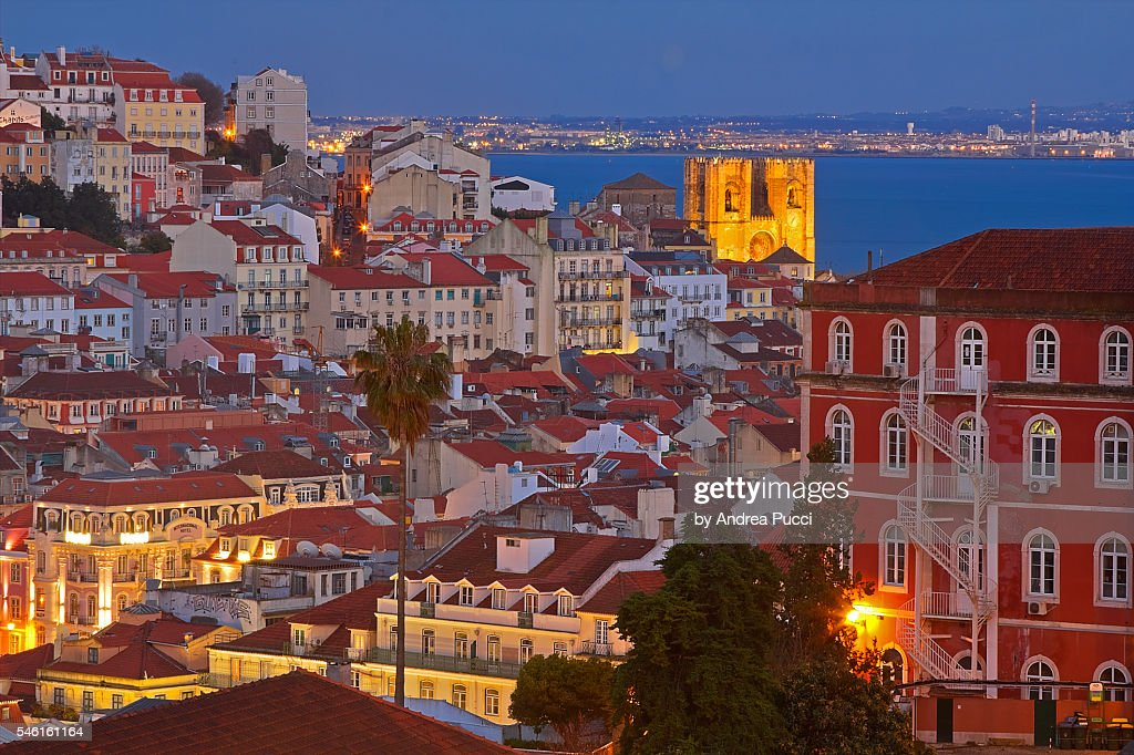 Patriarchal Cathedral of St. Mary Major, Lisbon, Portugal : Stock Photo