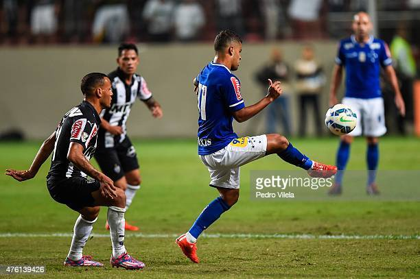 Patric of Atletico MG and Alisson of Cruzeiro battle for the ball during a match between Atletico MG and Cruzeiro as part of Brasileirao Series A...