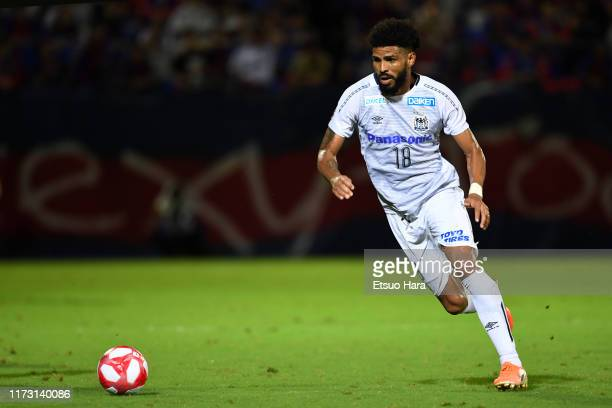 Patric of Gamba Osaka in action during the J.League Levain Cup quarter final second leg match between FC Tokyo and Gamba Osaka at NACK 5 Stadium...
