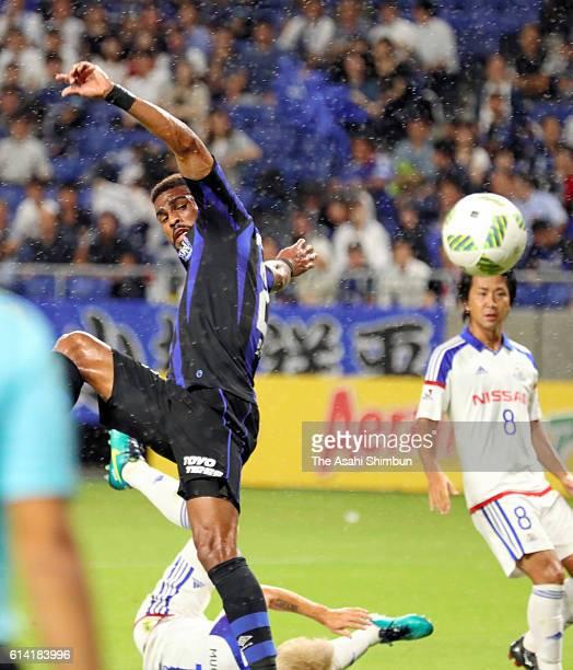 Patric of Gamba Osaka in action during the JLeague Levain Cup semi final first leg match between Gamba Osaka and Yokohama FMarinos at Suita Football...