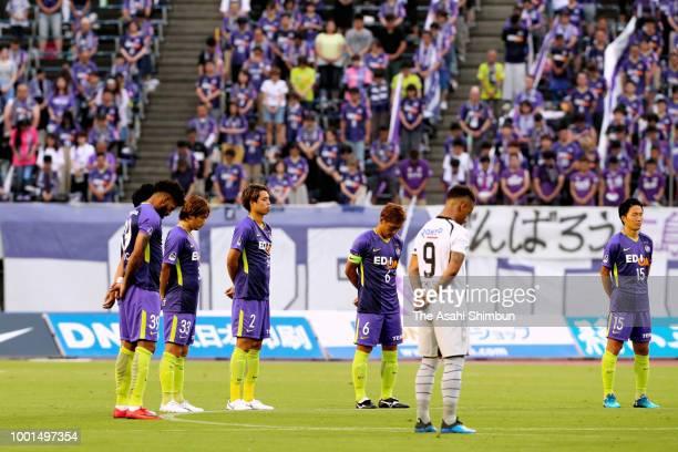 Patric of Sanfrecce Hiroshima scores his side's second goal during the JLeague J1 match between Sanfrecce Hiroshima and Gamba Osaka at Edion Stadium...