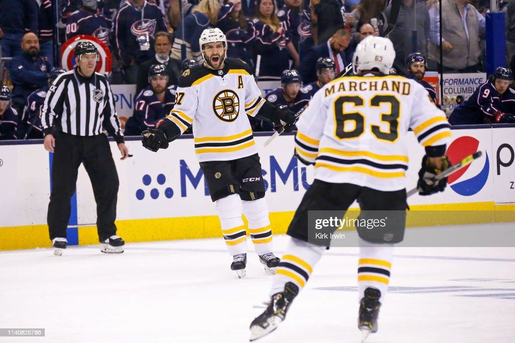 Boston Bruins v Columbus Blue Jackets - Game Four : News Photo