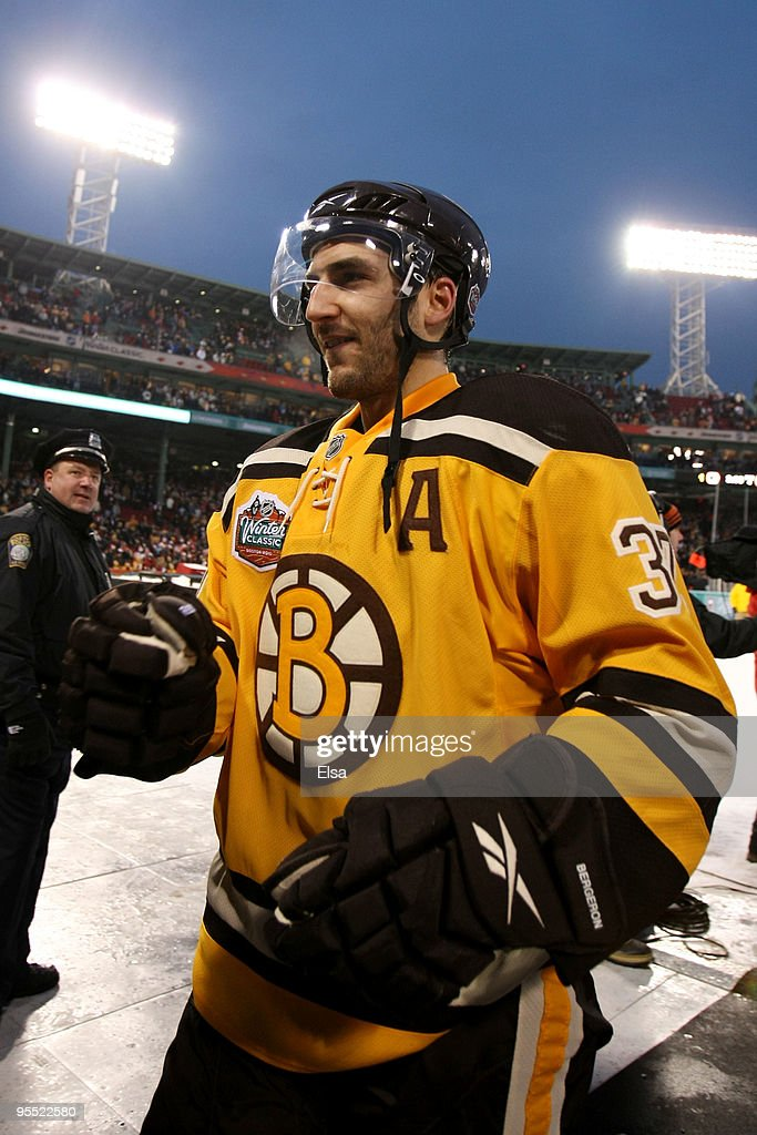new concept 19df9 5d1a9 Patrice Bergeron of the Boston Bruins walks off the rink ...