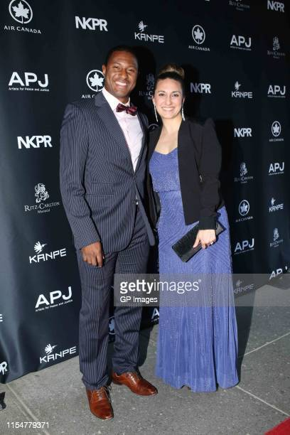 Patrice Bernier and Melisa Barile attend Artists For Peace And Justice inaugural Montreal Gala honoring Arcade Fire raises over a quarter of a...