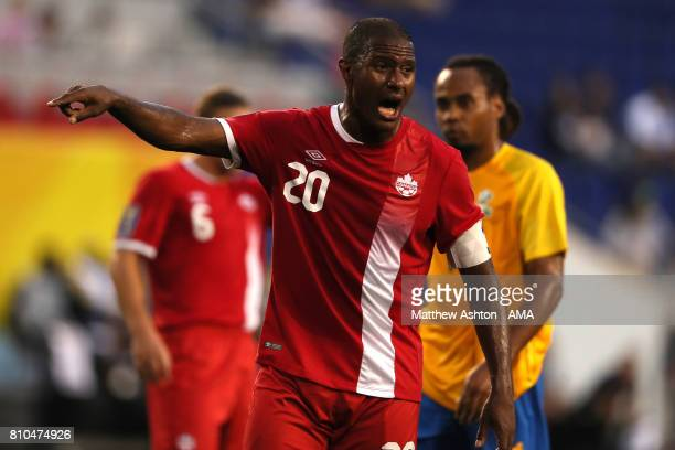 Patrice Bernier of Canada gestures during the 2017 CONCACAF Gold Cup Group A match between French Guiana and Canada at Red Bull Arena on July 7 2017...