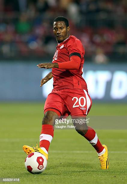 Patrice Bernier of Canada passes the ball during the International Friendly match between Canada and Jamaica at BMO Field on September 09 2014 in...