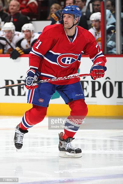 Patrice Brisebois of the Montreal Canadiens skates against the Buffalo Sabres at the Bell Centre on November 5 2007 in Montreal Quebec Canada