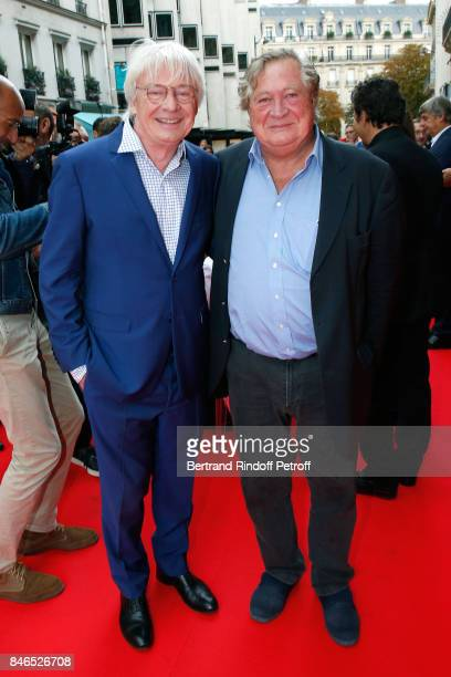 Patrice Carmouze and Jacques Pradel attend the RTL RTL2 Fun Radio Press Conference to announce their TV Schedule for 2017/2018 at Elysee Biarritz at...