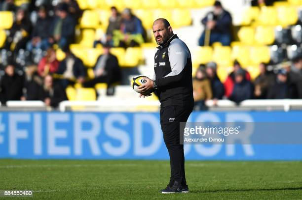 Patrice Collazo Coach aof La Rochelle during the Top 14 match between La Rochelle and Montpellier on December 2 2017 in La Rochelle France