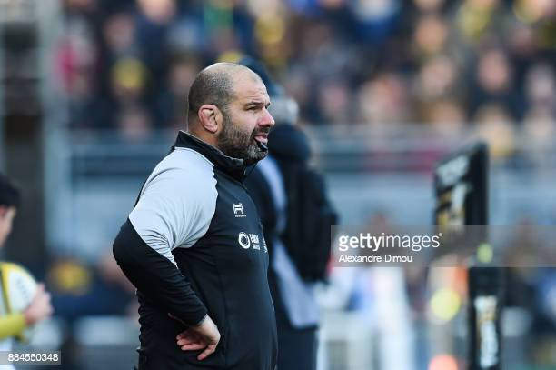 Patrice Collazo Coach of La Rochelle during the Top 14 match between La Rochelle and Montpellier on December 2 2017 in La Rochelle France