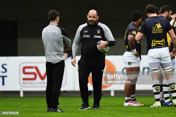 Patrice Collazo head coach of La Rochelle during the French Top 14 match between Montpellier and La Rochelle at Altrad Stadium on April 8 2018 in...