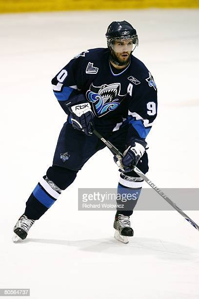 Patrice Cormier of the Rimouski Oceanic skates during the game against the Rouyn-Noranda Huskies at Dave Keon Arena on April 05, 2008 in...
