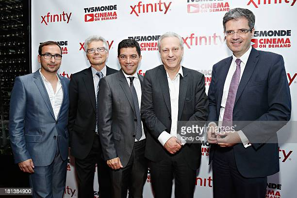 Patrice Courtaban JeanLuc Cronel Ruben Mendiola Yves Bigot and Francois Delattre attend the TV5MONDE Cinema On Demand Celebration at A Voce Columbus...