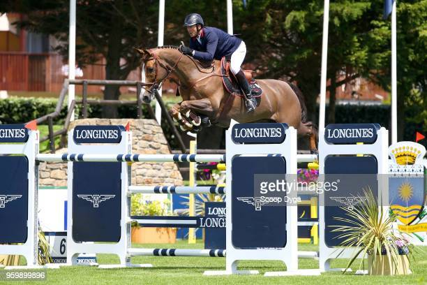 Patrice DELAVEAU riding AQUILA HDC during the Grand Prix Longines of the International Jumping La Baule 2018 on May 18 2018 in La Baule France