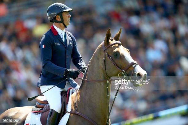 Patrice DELAVEAU riding AQUILA HDC during the Longines FEI Jumping Coupe des Nations de France on May 20 2018 in La Baule France