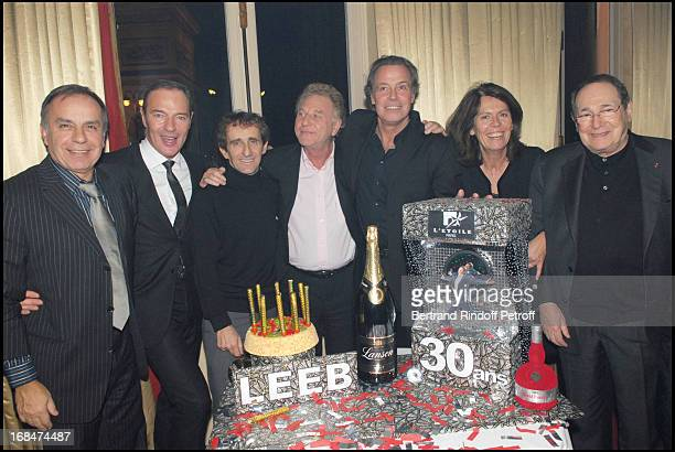 Patrice Dominguez Tony Gomez Alain Prost Robert Namias Michel Leeb Beatrice Leeb and Robert Hossein at Michel Leeb's 30 Year Career Celebration At...