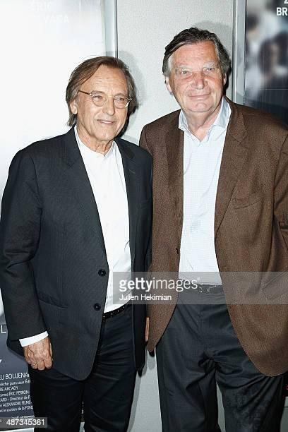 Patrice Duhamel and French director Alexandre Arcady attend '24 Jours' Paris Premiere at Publicis Champs Elysees on April 29 2014 in Paris France