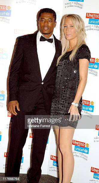 Patrice Evra and partner arrive for the Manchester United `United for UNICEF' Gala Dinner at Manchester United Football Club October 28 2007 in...