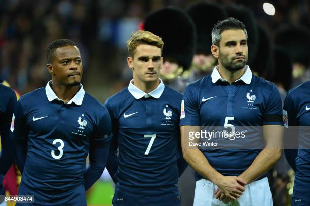Patrice EVRA / Antoine GRIEZMANN / Loic PERRIN Angleterre / France Photo Dave Winter / Icon Sport
