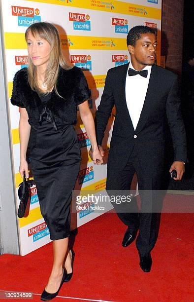 Patrice Evra during United for UNICEF Gala Dinner Arrivals at Old Trafford Manchester United Football Club in Manchester Great Britain