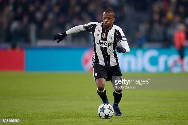 Patrice Evra of Juventus FC in action during the UEFA Champions League Group H football match between Juventus FC and GNK Dinamo Zagreb Juventus FC...