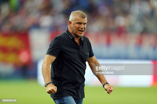 Patrice Garande of Caen during the French Ligue 1 match between SM Caen an Bastia at Stade Michel D'Ornano on August 27, 2016 in Caen, France.