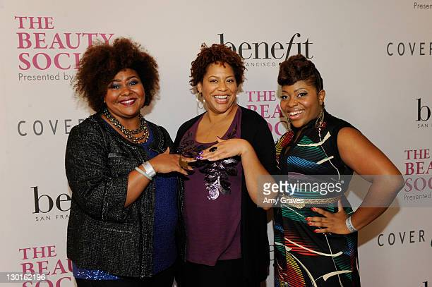 Patrice Grell Yursik, Kim Coles and Dre Brown attend The Beauty Social Presented by Beautylish - Day2 at the Loews Santa Monica Beach Hotel on...