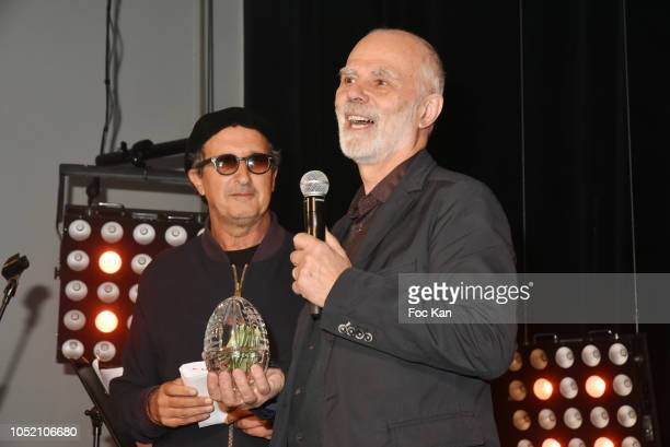 Patrice HaddadÊand Awarded Alec Davis for his film Stuck Inside during The ASVOFF Fashion Film Festival 10th Anniversary Closing Party at Maison Jean...