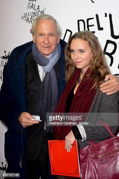 Patrice Laffont and daughter Mathilde attend the 51st Gala de L'Union Des Artistes at Cirque Alexis Gruss in Paris