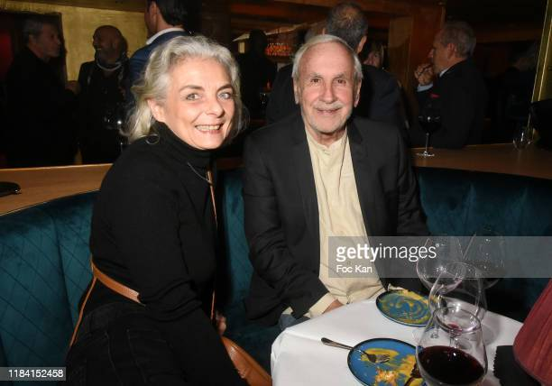 Patrice Laffont and Valerie attend Jean Marie Bigard « Ogre » Perfume Launch Party at Manko Club on October 28 2019 in Paris France