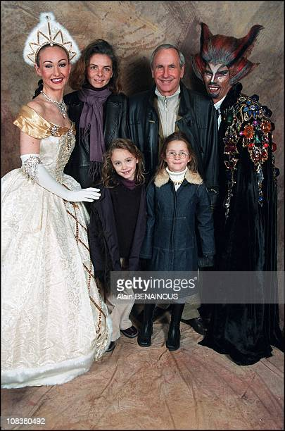 Patrice Laffont his wife Valerie and their daughter Mathilde and her friend Julie in France on November 10 2001