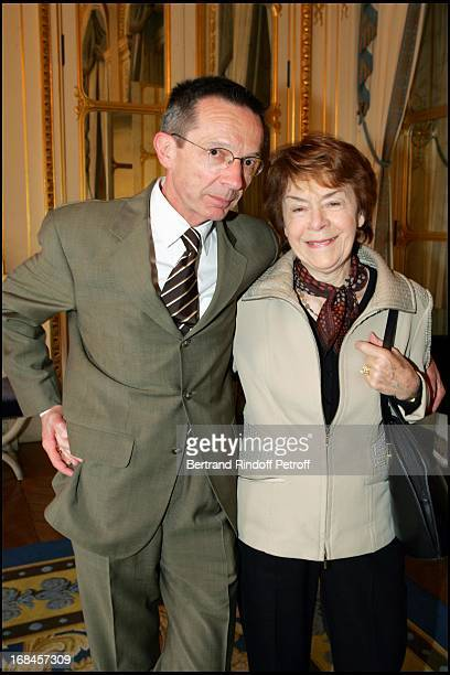 Patrice Leconte and Annick Alane at Gerard Jugnot Receives Chevalier Legion Of Honour