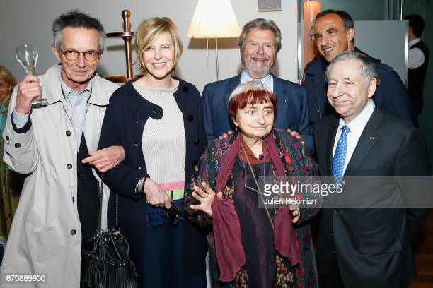 Patrice Leconte Chantal Ladesou President of the Cartier Fondation Alain Dominique Perrin Nikos Aliagas Agnes Varda and Jean Todt attend 'Auto Photo'...