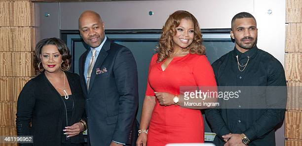 Patrice Lovely Palmer Williams Jr Kendra C Johnson and Tyler Lepley attend a press lunch on the new season premiere of Tyler Perry's The Haves The...