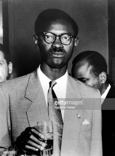 Patrice Lumumba In Belgium In Brussels1958