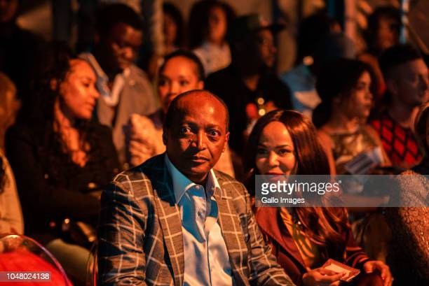 Patrice Motsepe and his wife Precious MoloiMotsepe in the front row at the MaXhosa by Laduma show during the Africa Fashion International Joburg...