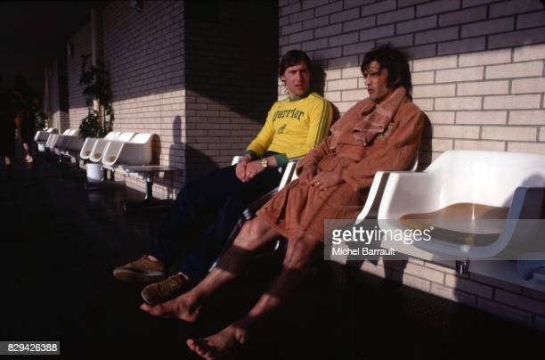 Patrice Rio and Henri Michel of France during the stage of Team France at Le Touquet before the World Cup 1978 on 30th April 1978
