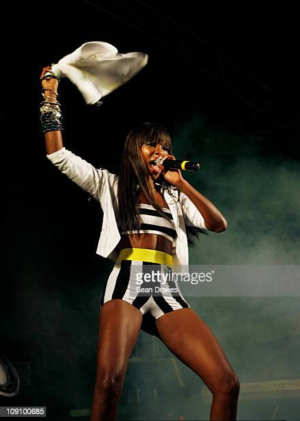 Patrice Roberts performs at Spektakula's Battle of the Sexes at the Jean Pierre Complex on Saturday February 12 2011 in Port of Spain Trinidad