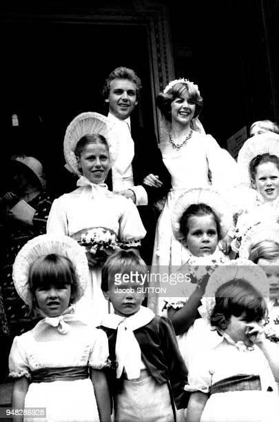 Patrice Ryecart et Marsha Fitzalan fille du Duc de Norfolk en juillet 1977 à Londres RoyaumeUni