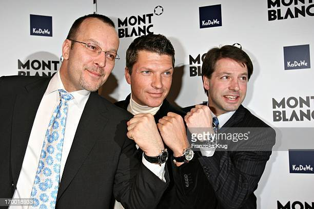 Patrice Wagner Hardy Krüger Jr And Thomas Schnädter At the Montblanc exhibition Soul Makers For 100 Years at the KaDeWe in Berlin 120406