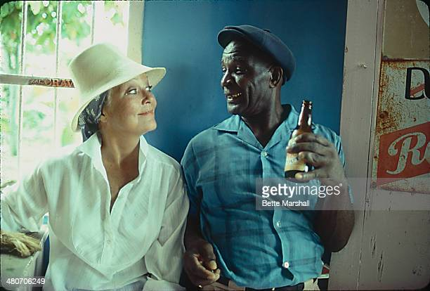 Patrice Wymore Flynn is seen at a local shop in Priestman's River circa July 1980 in Portland Jamaica