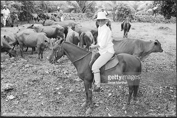 Patrice Wymore Flynn is seen at her home the Errol Flynn Estate circa July 1980 in Portland Jamaica