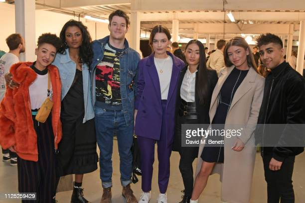 Patricia Allison Simone Ashley Connor Swindells Emma Mackey Alice Hewkin Mimi Keene and Chaneil Kular attend the House of Holland AW19 London Fashion...